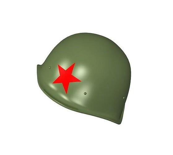 Soviet helmet wz. 40 with a green star
