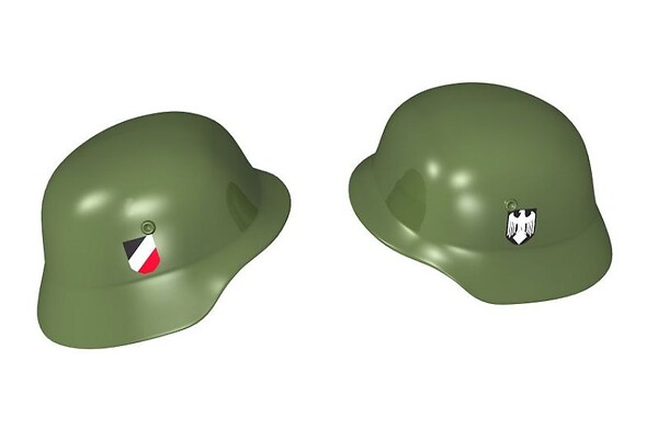 Stahlhelm - German military helmet with prints