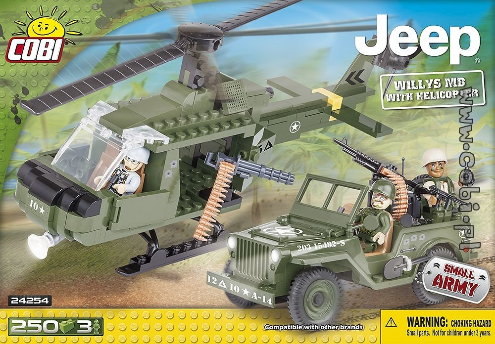 Jeep Willys MB with Helicopter