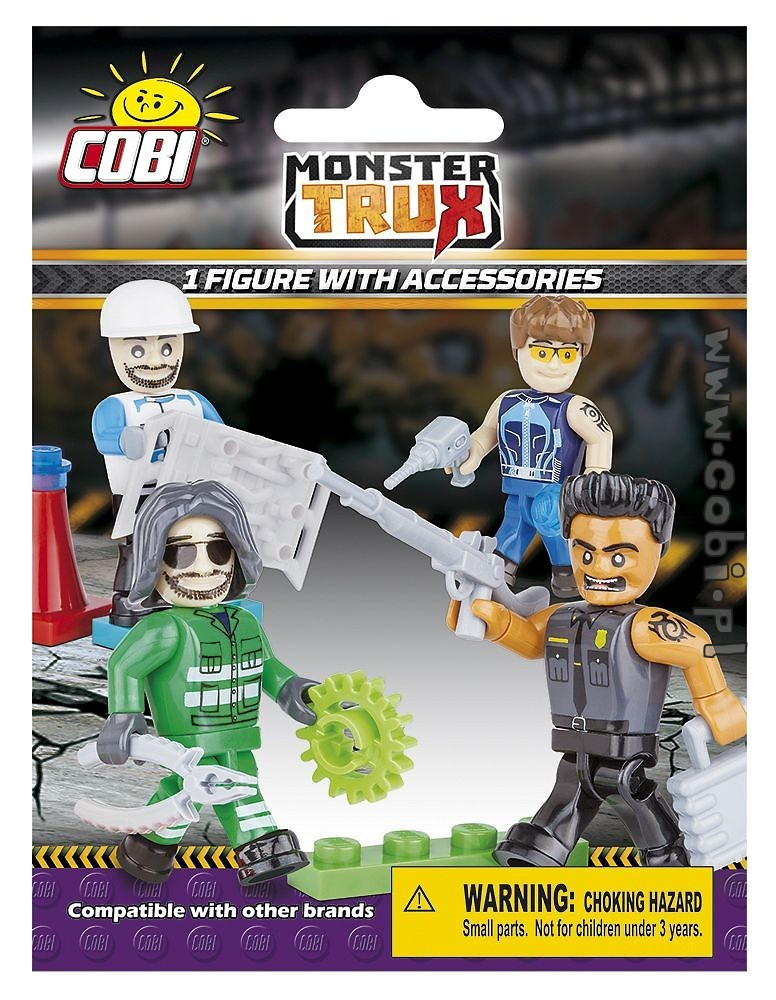 1 Figure with Accessories- Monster Trux