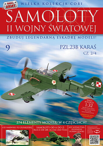 PZL. P-23B Karaś (2/4) WW2 Aircraft Collect. No. 09