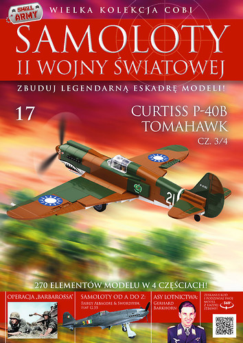 Curtiss P-40B Tomahawk cz.3/4 WW2 Aircraft Collect. No. 17