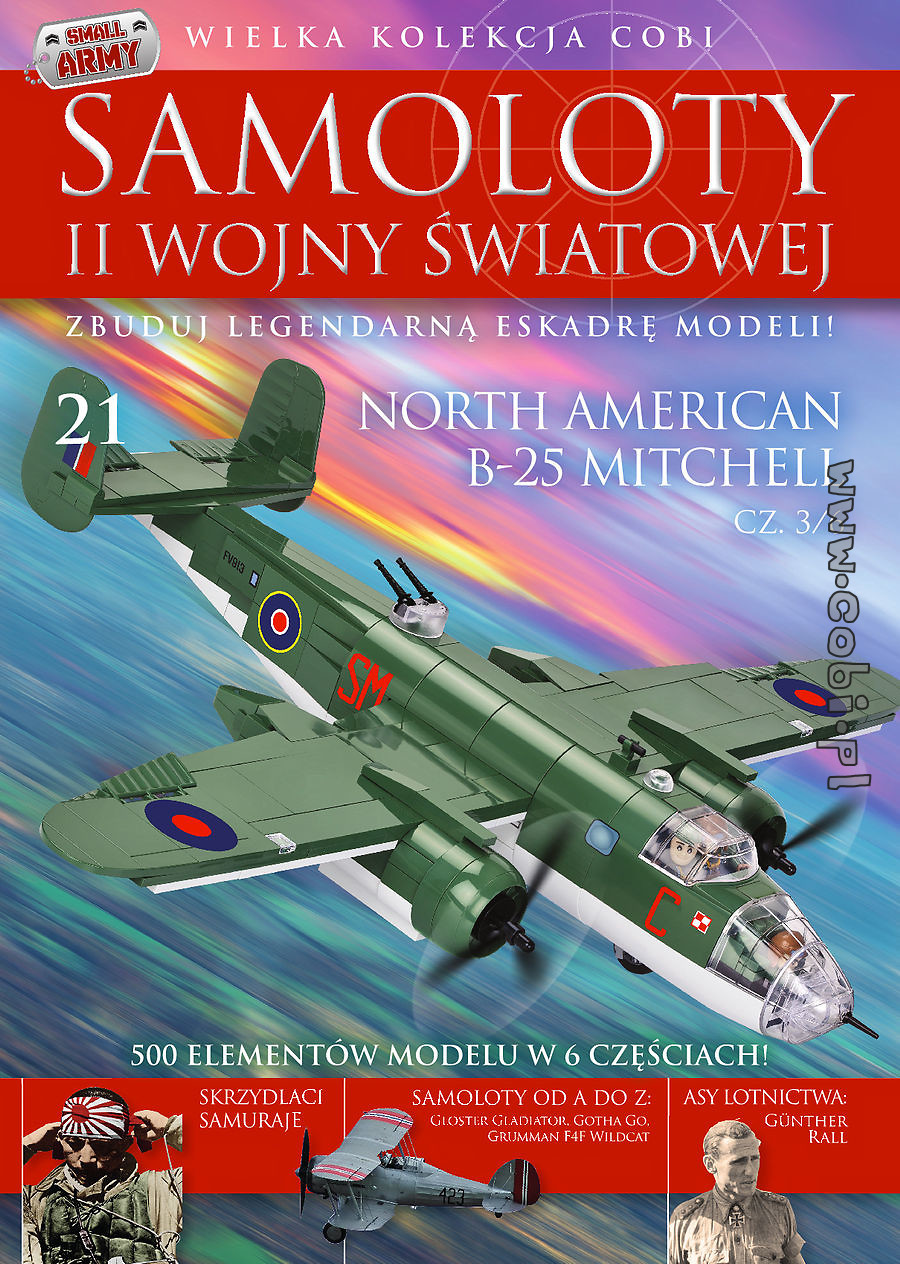 North American B-25 Mitchell cz.3/6 WW2 Aircraft Collect. No. 21